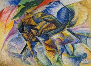 Umberto Boccioni, Dynamisme d'un cycliste, 1913, P. Guggenheim, Venise