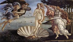 La naissance de Vénus,1484-86, Offices, Florence