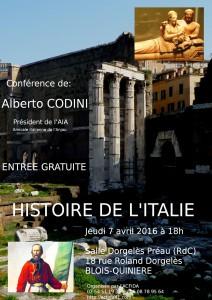 Affiche Histoire de l'Italie