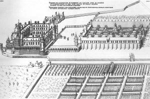 Château de Gallion et jardins vers 1576, Dessin de Jacques Androuet du Cerceau