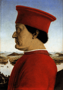 Piero della Francesca, Federico da Montefeltro, 1465-1472, Offices, Florence.
